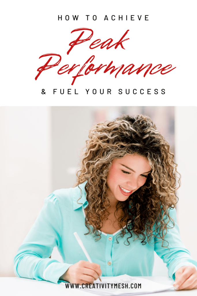 how to reach peak performance and fuel your success